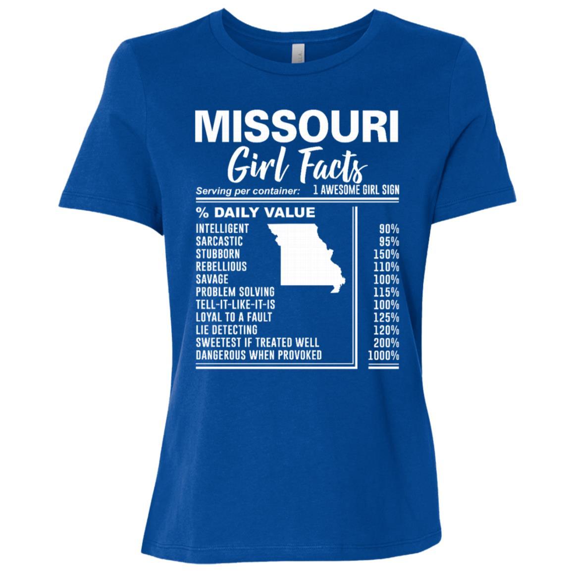 Born in Missouri – Missouri Girl Facts Women Short Sleeve T-Shirt