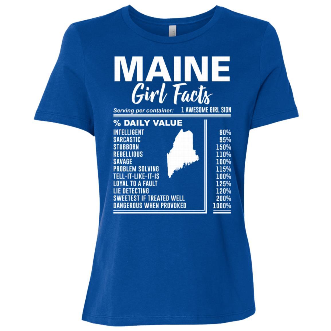 Born in Maine – Maine Girl Facts Women Short Sleeve T-Shirt