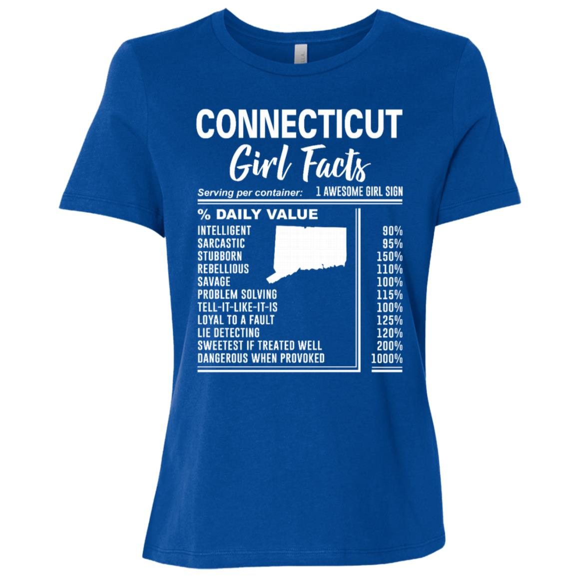 Born in Connecticut – Connecticut Girl Facts Women Short Sleeve T-Shirt