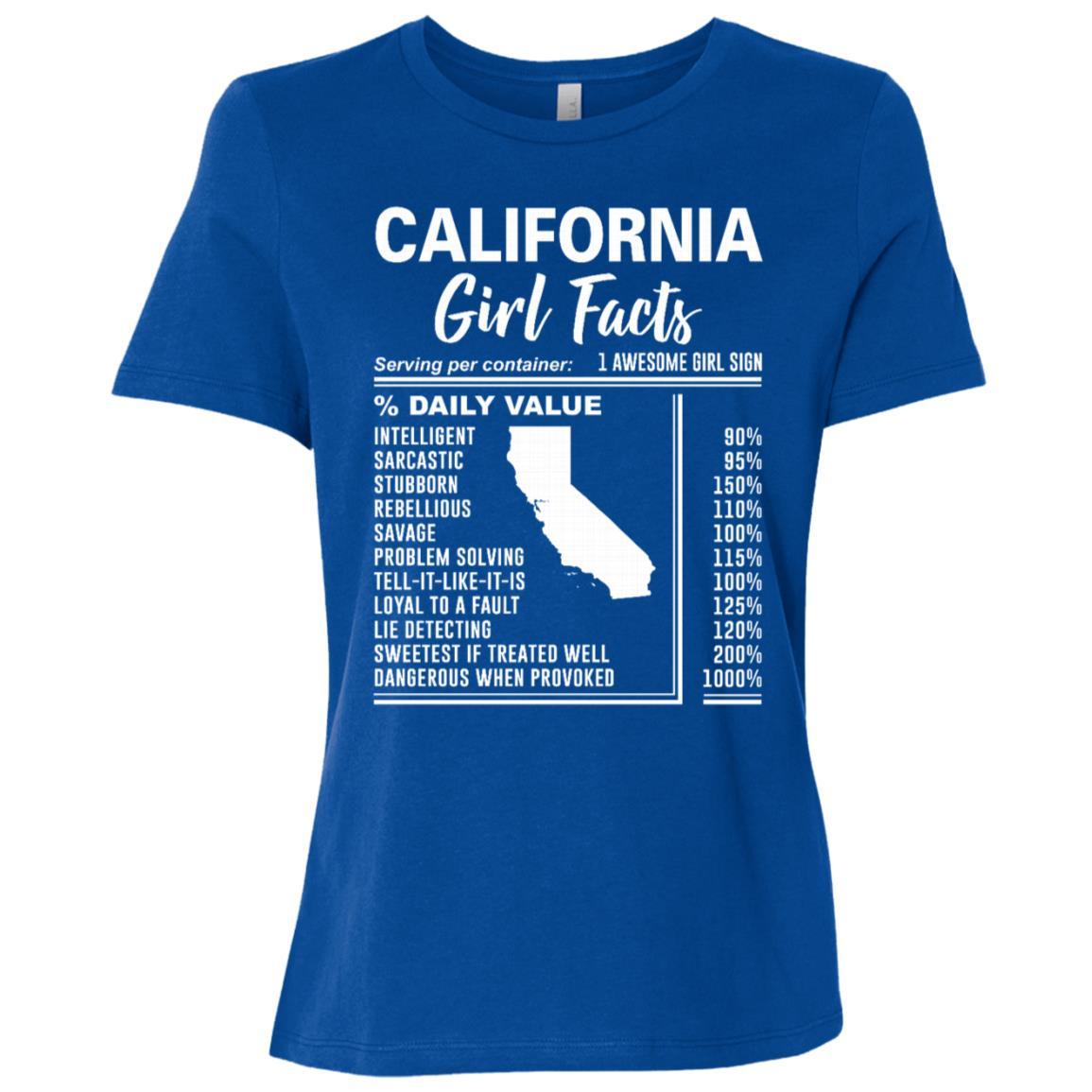 Born in California – California Girl Facts Women Short Sleeve T-Shirt