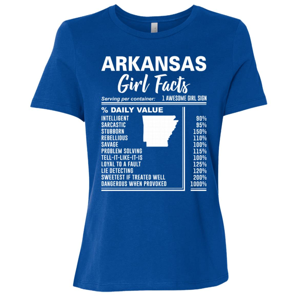 Born in Arkansas – Arkansas Girl Facts Women Short Sleeve T-Shirt