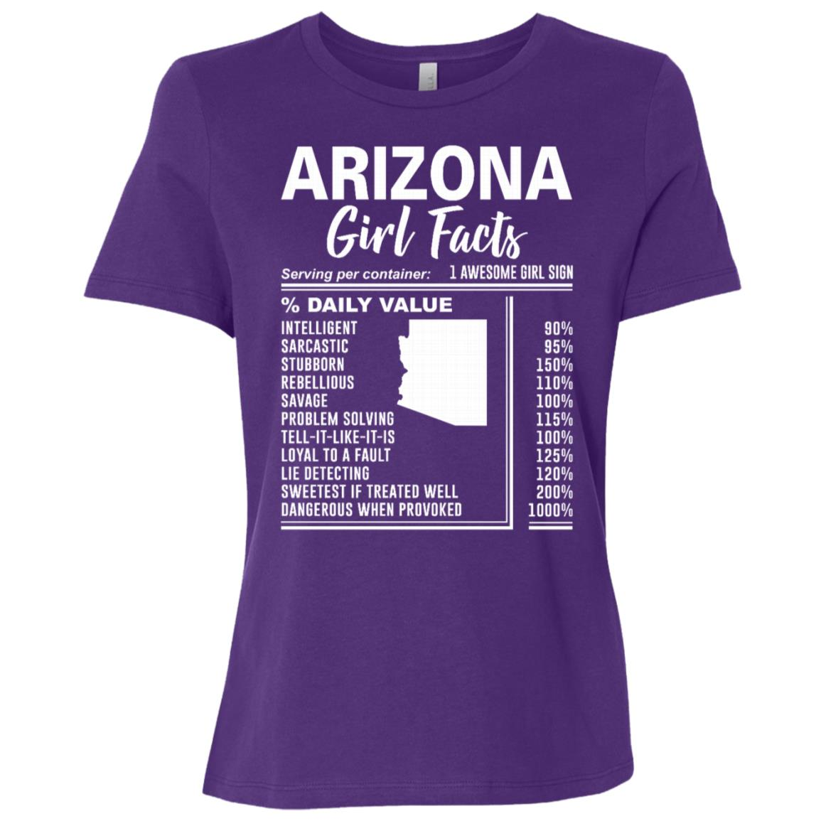 Born in Arizona – Arizona Girl Facts Women Short Sleeve T-Shirt