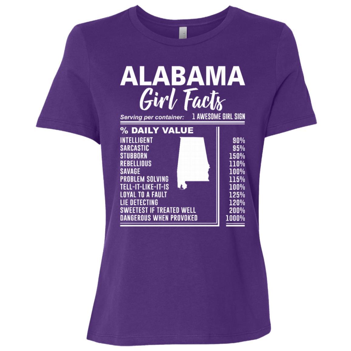 Born in Alabama – Alabama Girl Facts Women Short Sleeve T-Shirt