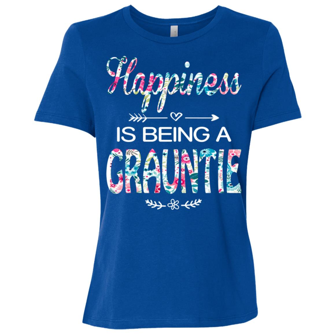 Happiness is Being a Grauntie Cute Womens Grandma Tees Women Short Sleeve T-Shirt