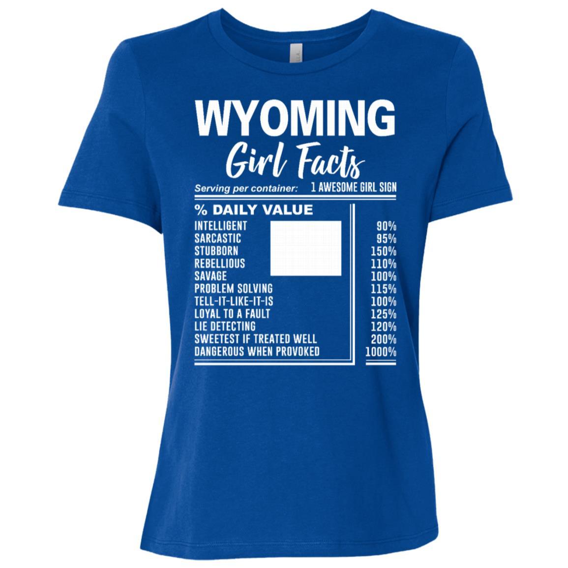Born in Wyoming – Wyoming Girl Facts Women Short Sleeve T-Shirt