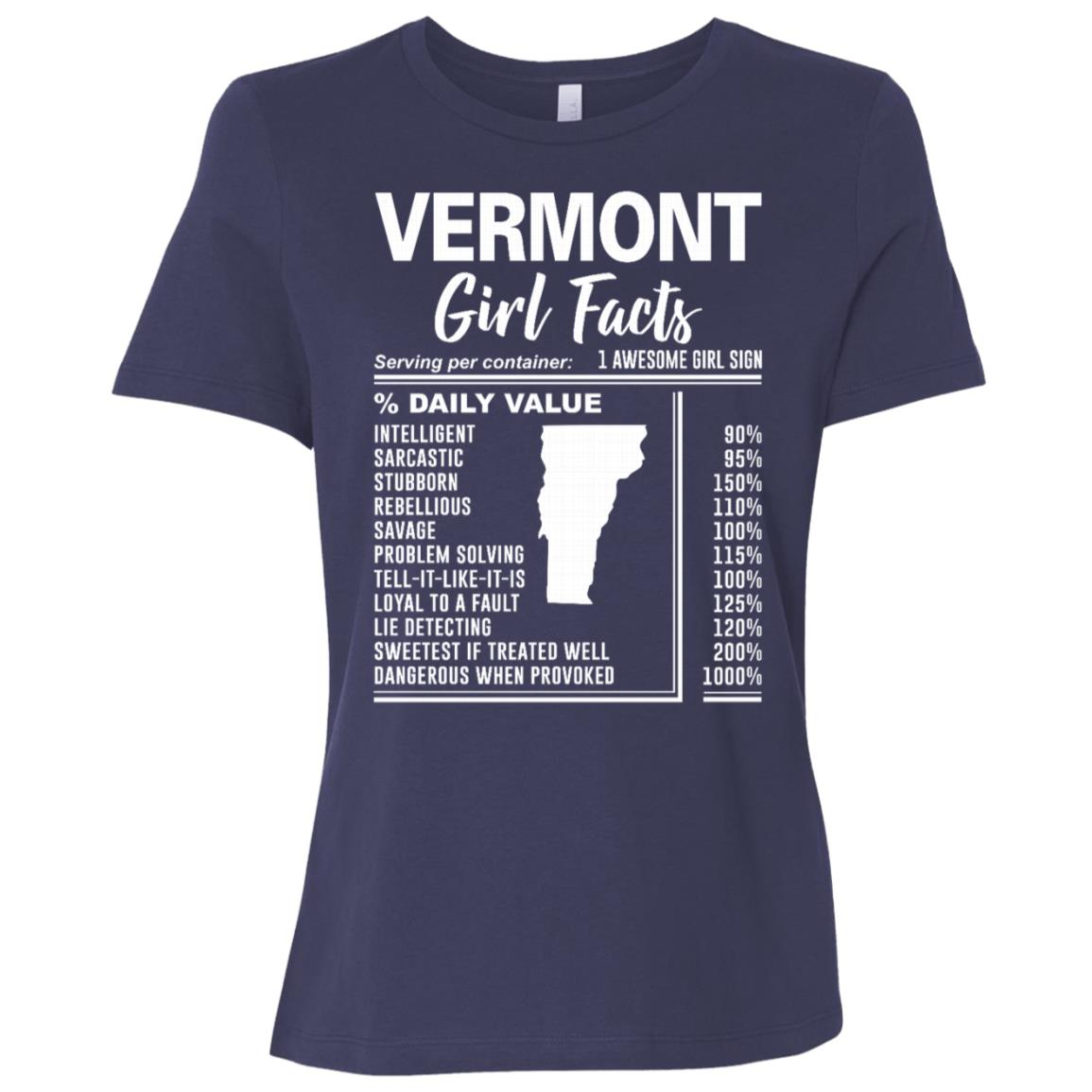 Born in Vermont – Vermont Girl Facts Women Short Sleeve T-Shirt