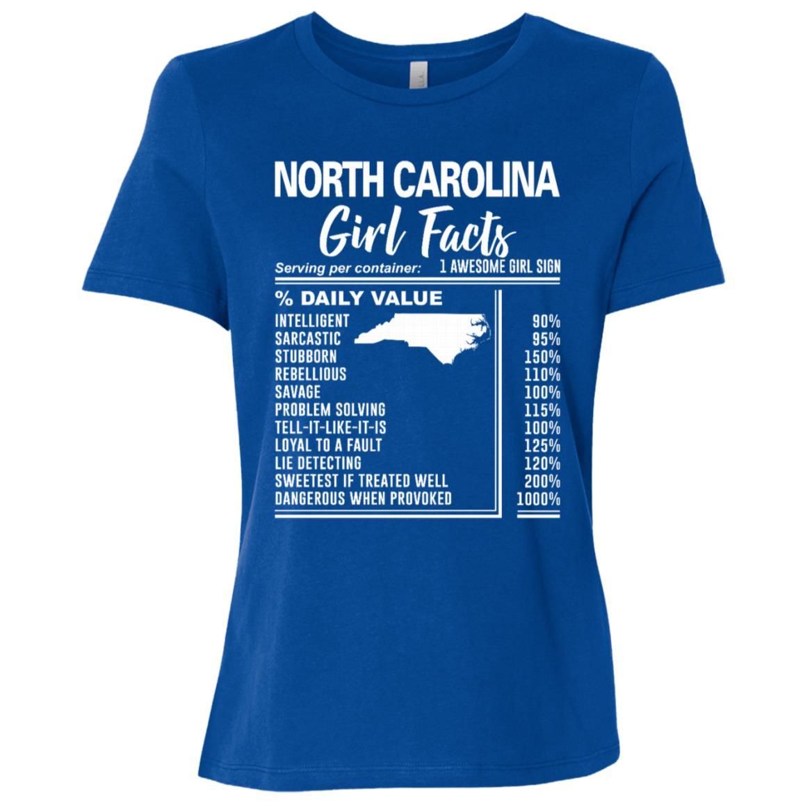 Born in North Carolina Girl Facts Women Short Sleeve T-Shirt
