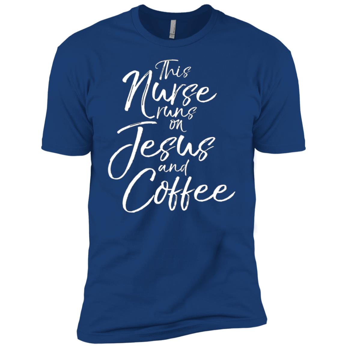 This Nurse Runs On Jesus And Coffee for girl Men Short Sleeve T-Shirt