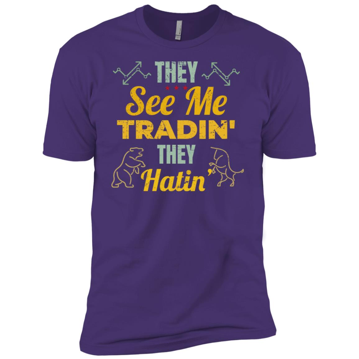 They See Me Tradin' They Hatin' Stock Forex Trader Men Short Sleeve T-Shirt