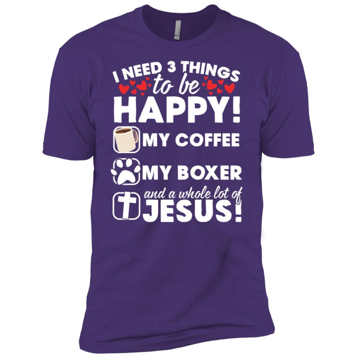 Jesus Coffee Boxer Dog Gift Men Short Sleeve T-Shirt