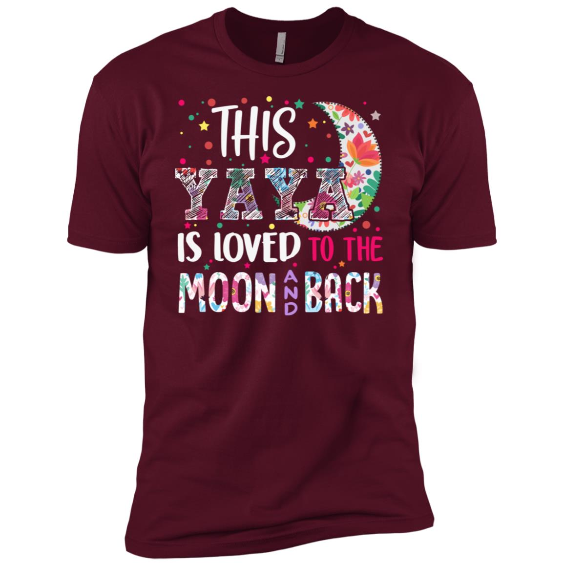 This Yaya is loved to the moon and back Men Short Sleeve T-Shirt