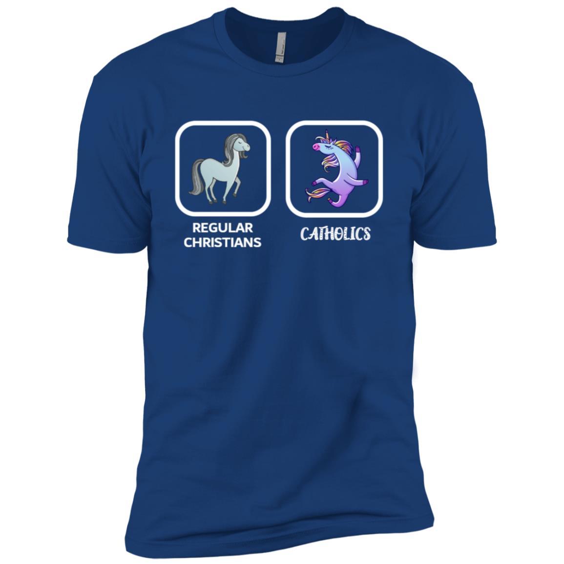 Regular Christians Catholics Funny Christian Catholic Ls Tee Men Short Sleeve T-Shirt