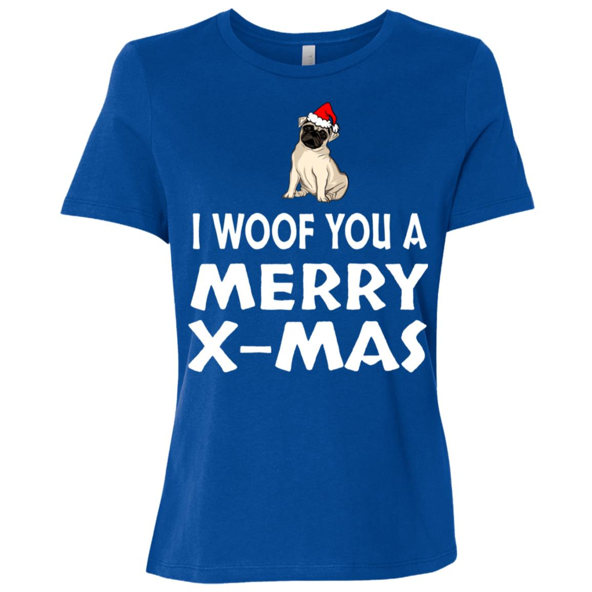 I Woof You A Merry X-mas Women Short Sleeve T-Shirt