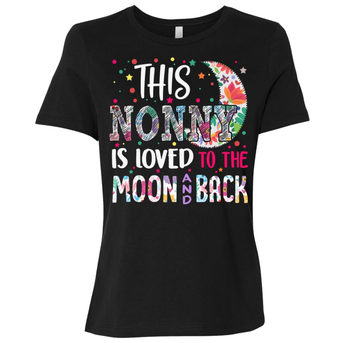 This Nonny is loved to the moon and back Women Short Sleeve T-Shirt