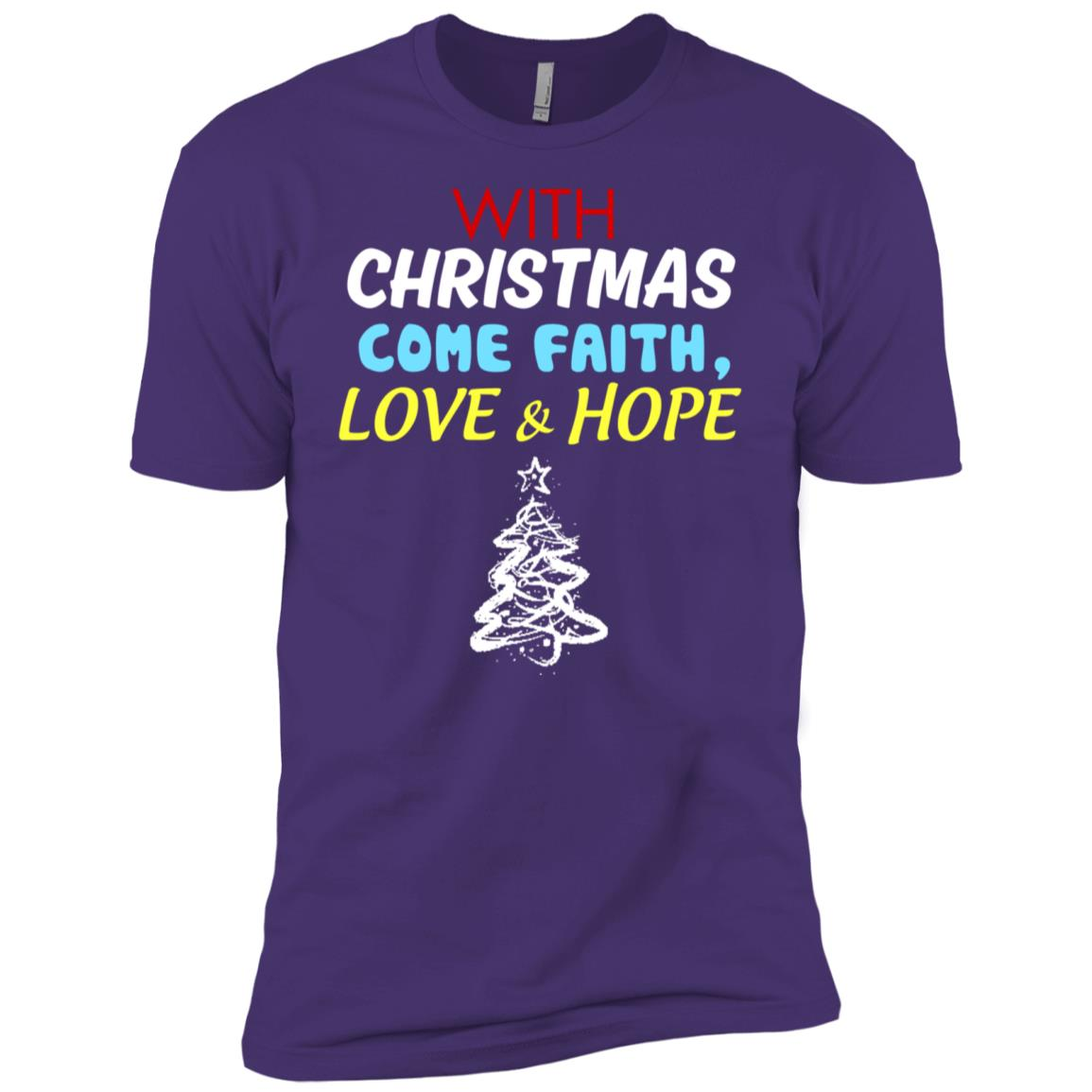 With christmas come faith love and hope s Men Short Sleeve T-Shirt
