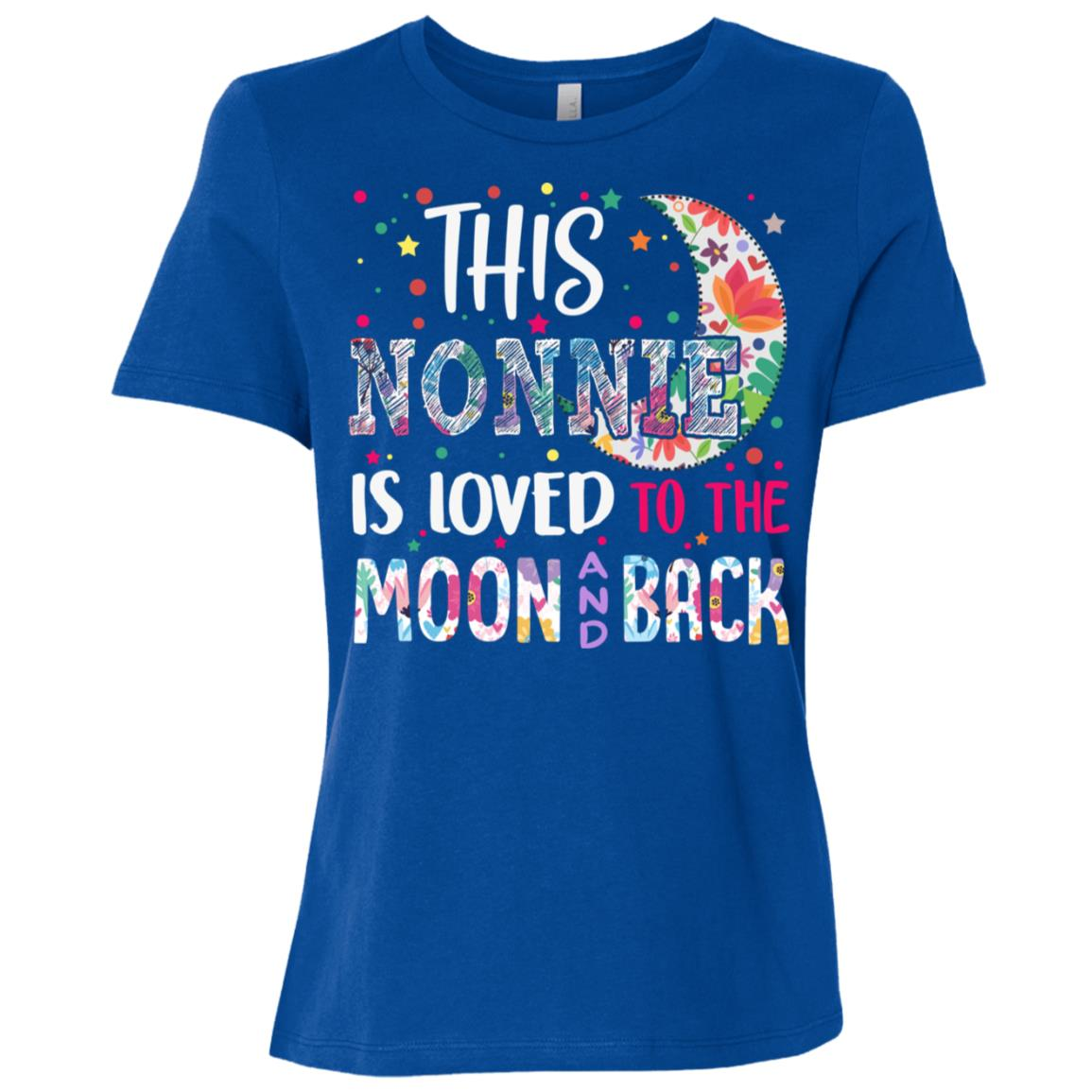 This Nonnie is loved to the moon and back Women Short Sleeve T-Shirt