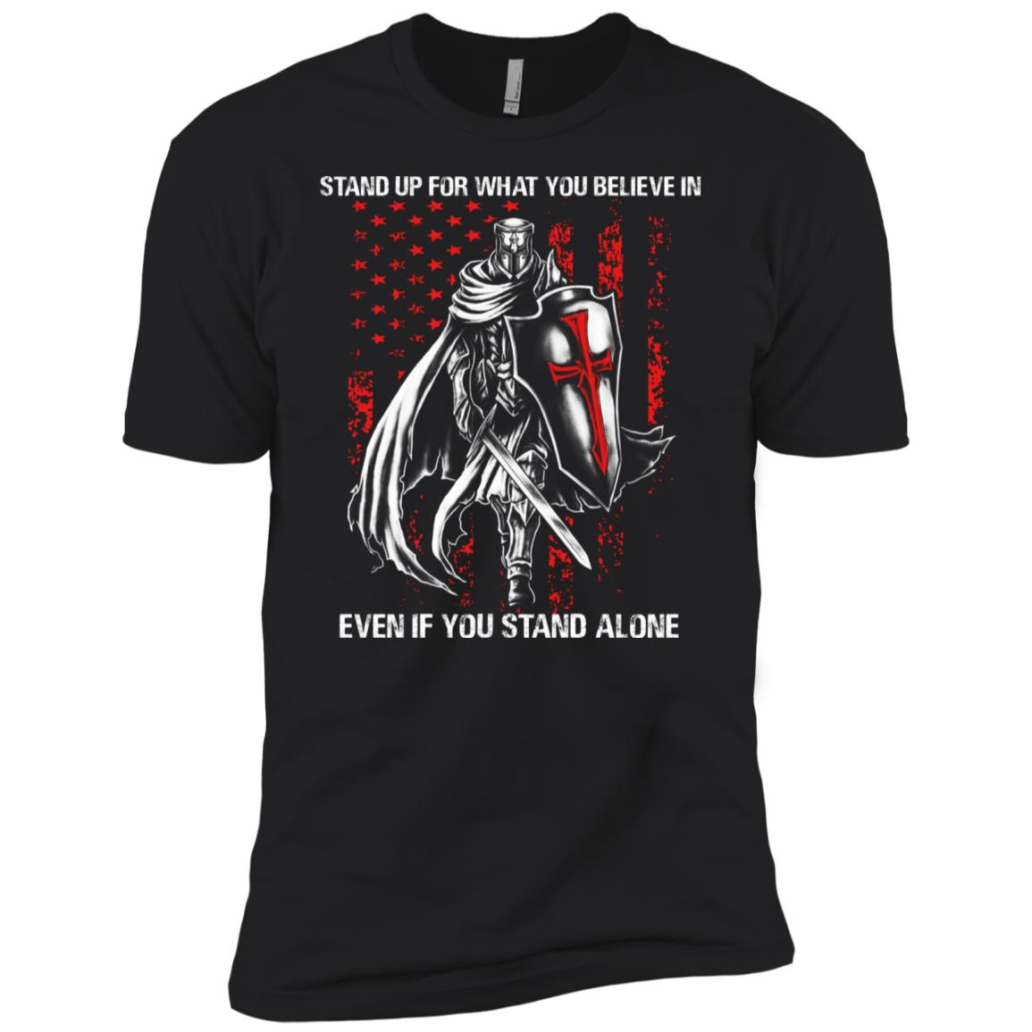Knight Templar Stand up for what you believe in Men Short Sleeve T-Shirt