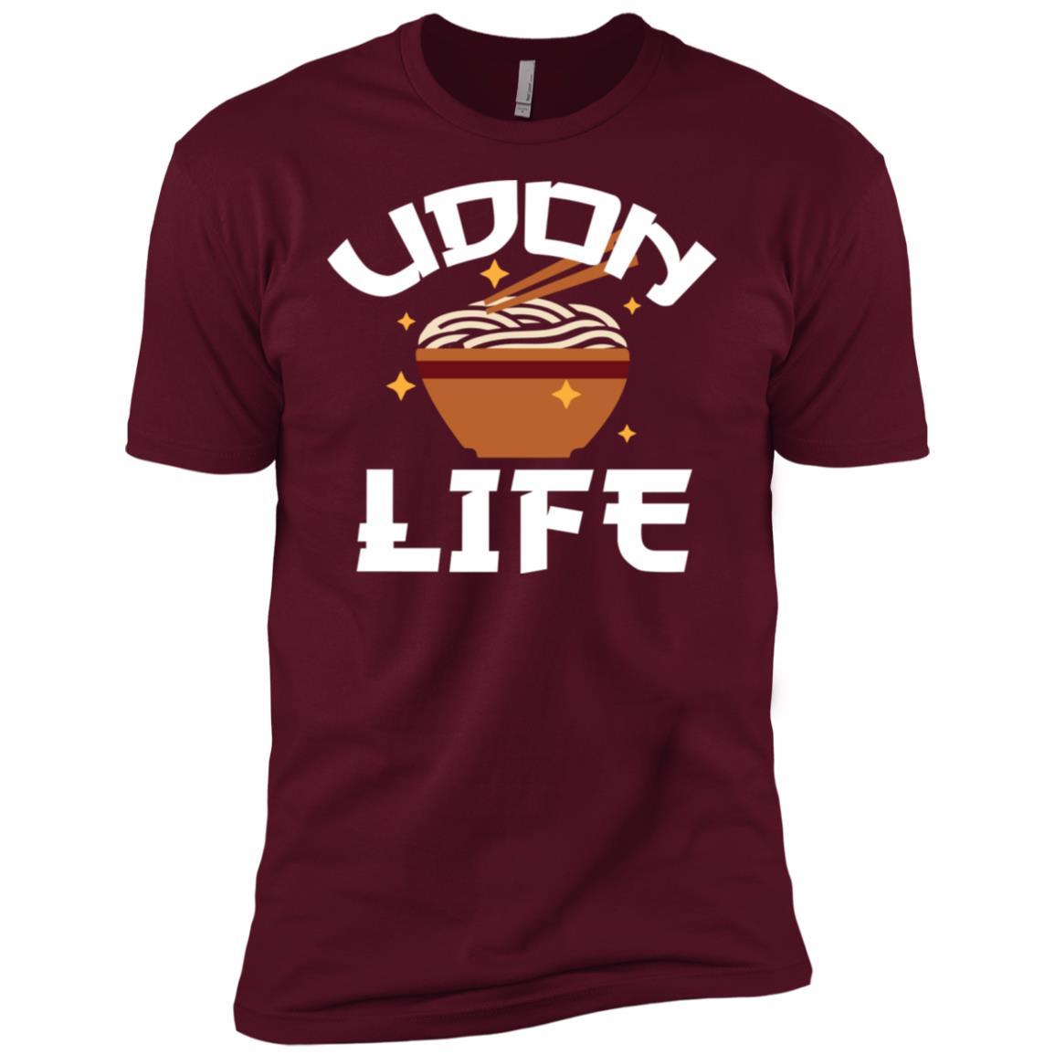 Japanese Udon Life Anime Tee Food Lover Pun Gift Men Short Sleeve T-Shirt