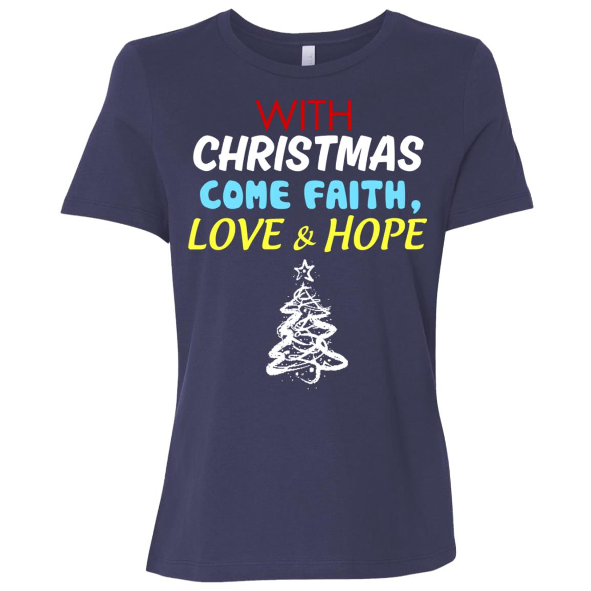With christmas come faith love and hope s Women Short Sleeve T-Shirt