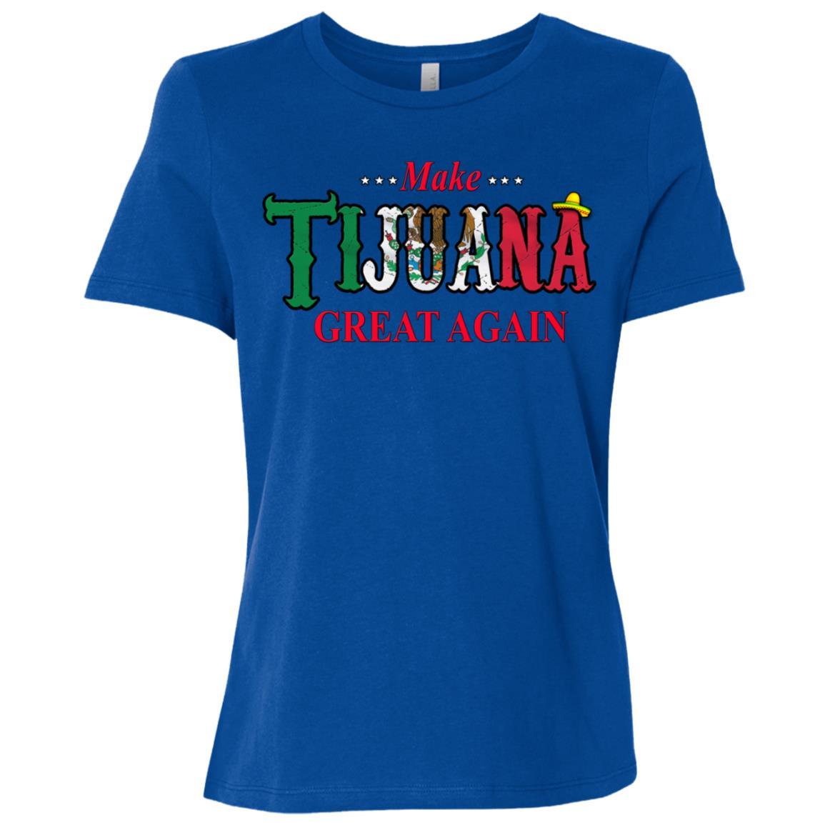 Make Tijuana Mexico Great Again Funny Gift Idea s-3 Women Short Sleeve T-Shirt