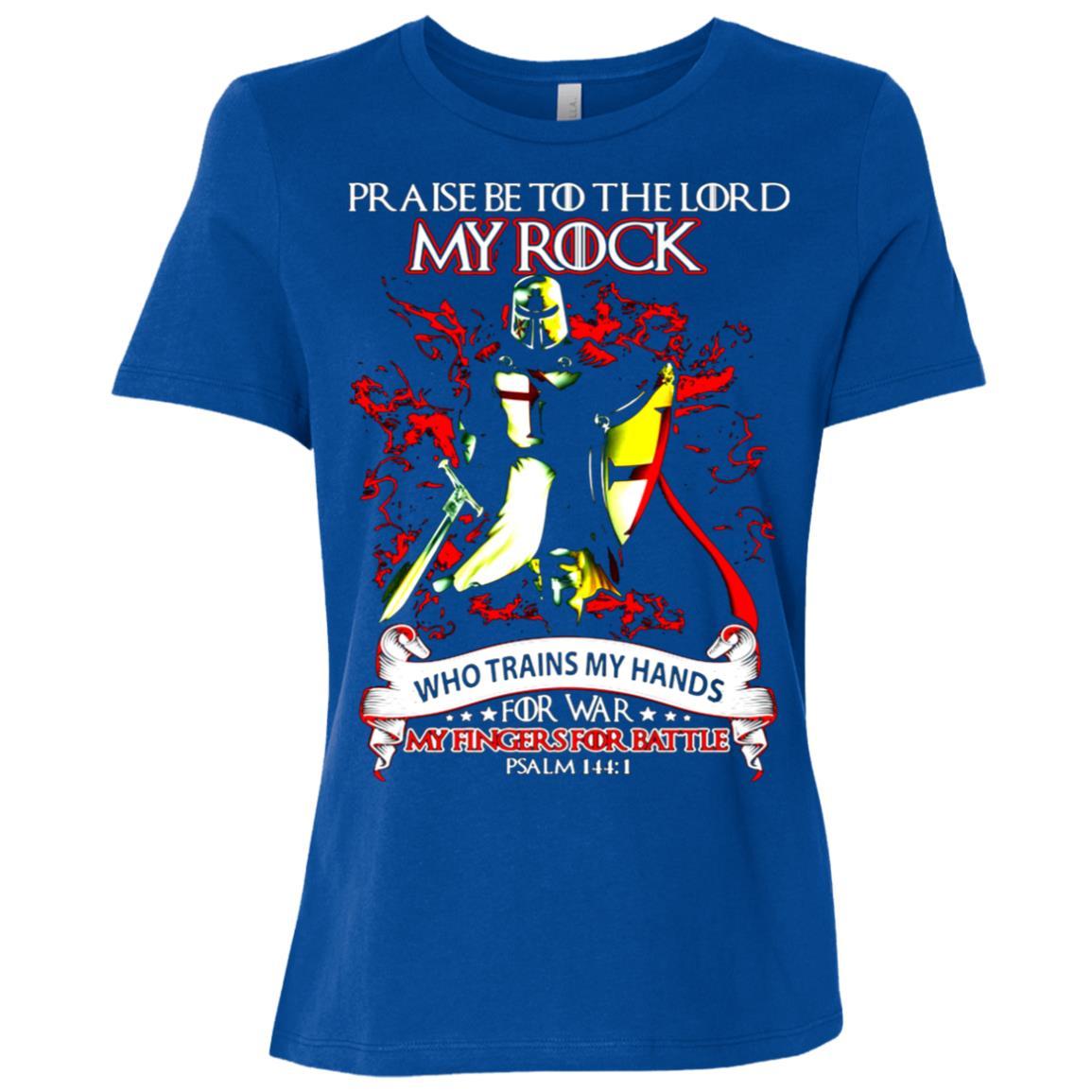 Knight Templar Praise The Lord My Rock Who Trains My Hands Women Short Sleeve T-Shirt