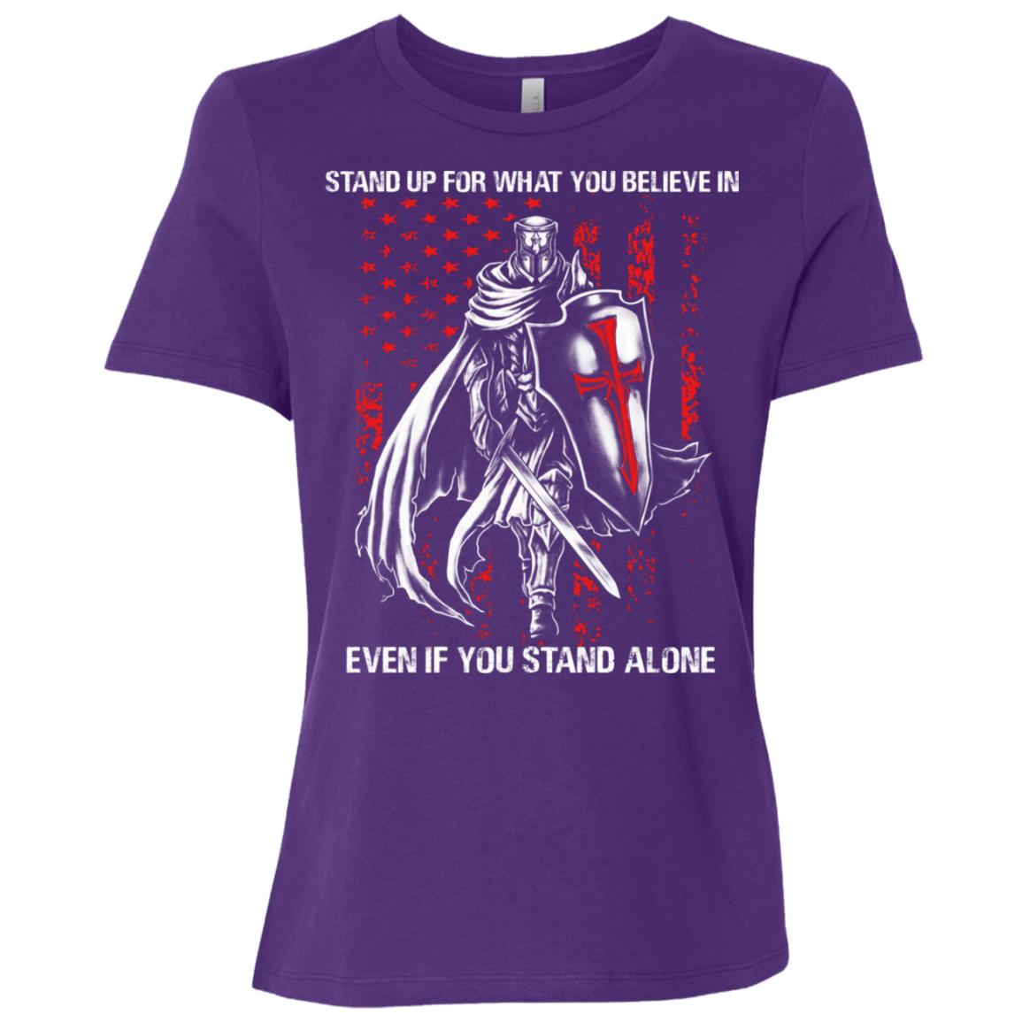 Knight Templar Stand up for what you believe in Women Short Sleeve T-Shirt