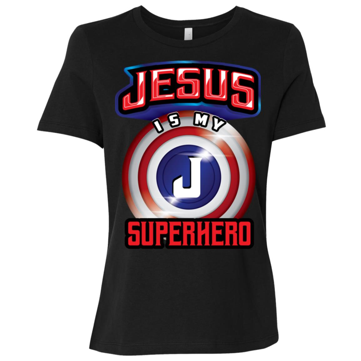 Jesus Is My Superhero Cute Powerful Christian Gift Women Short Sleeve T-Shirt