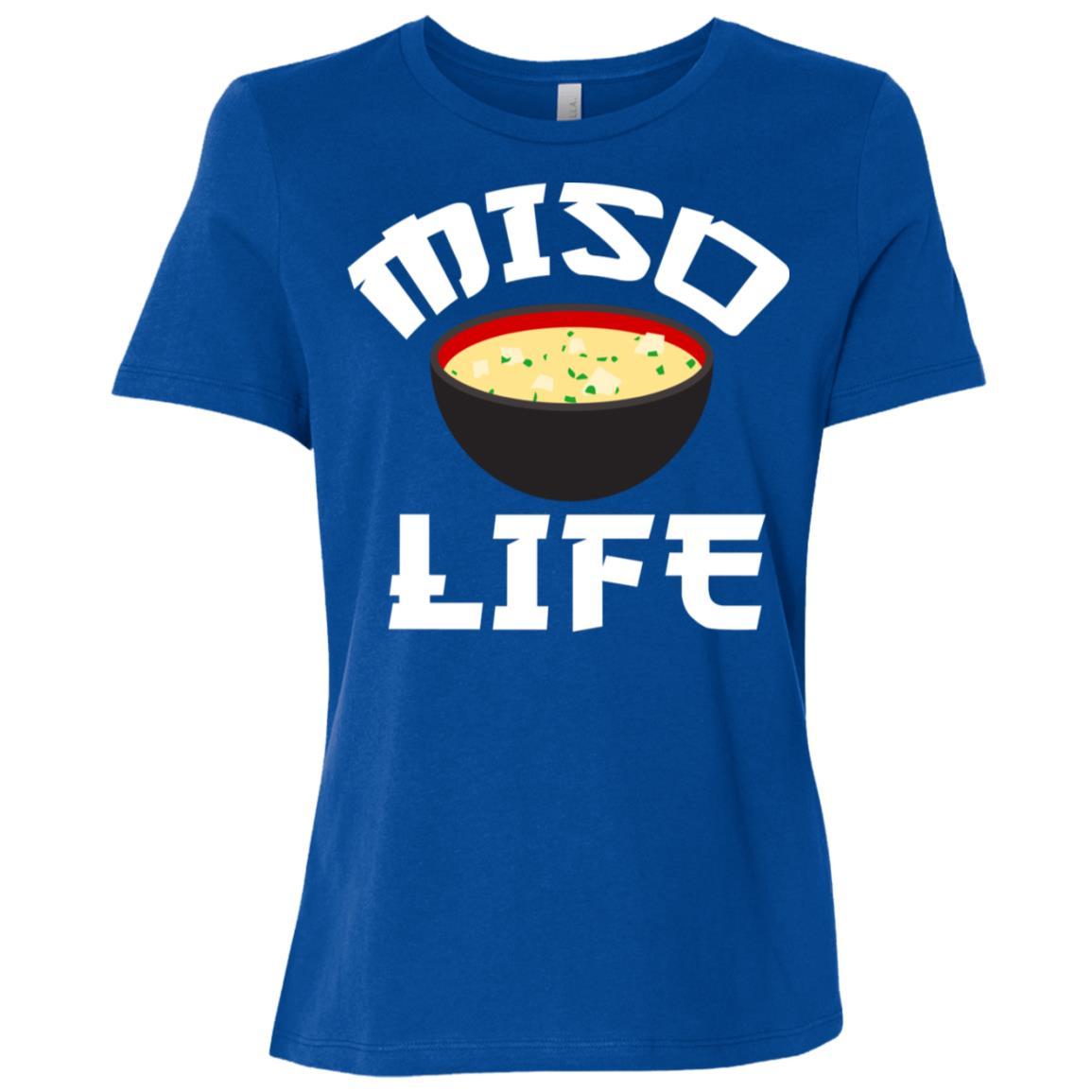 Japanese Miso Anime Miso Life Food Lover Women Short Sleeve T-Shirt