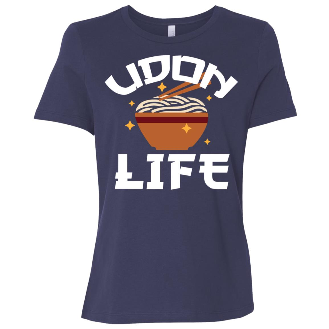 Japanese Udon Life Anime Tee Food Lover Pun Gift Women Short Sleeve T-Shirt