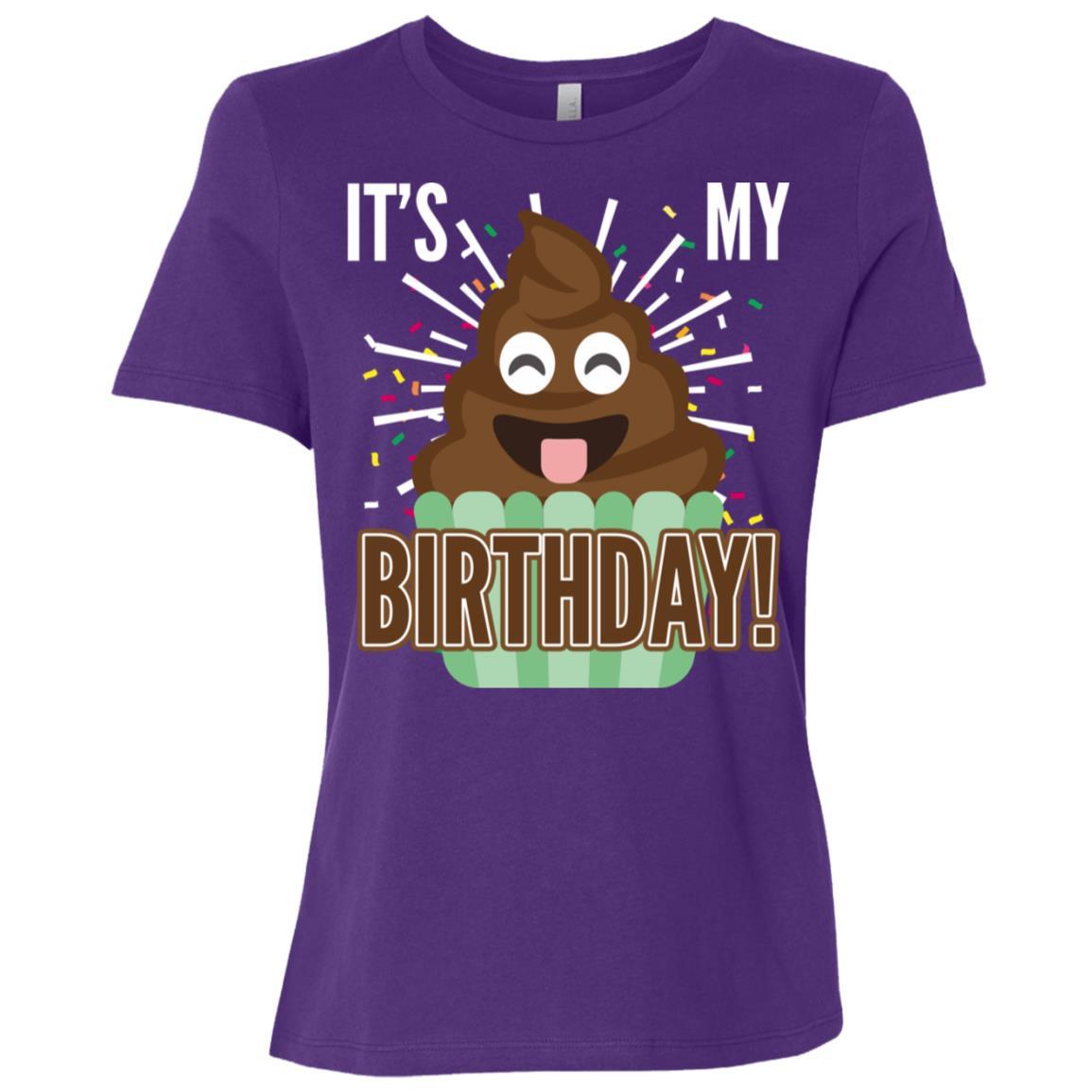 It's My Birthday Funny Smile Stink Cupcake Gift Women Short Sleeve T-Shirt