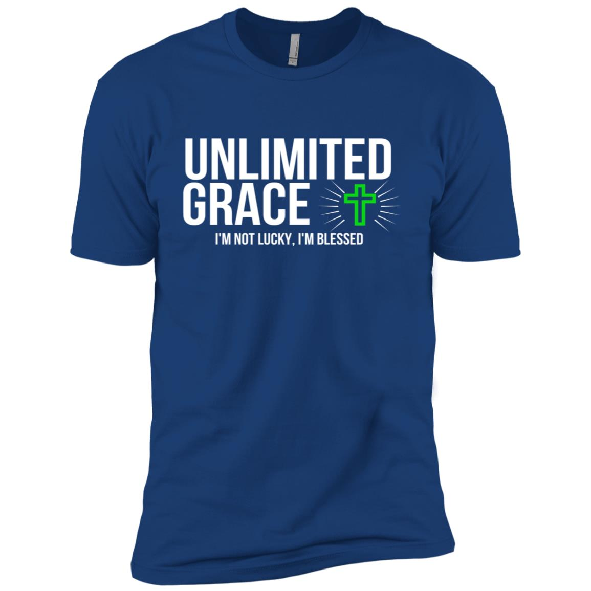 Unlimited Grace I'm Blessed Tee- Christian Gifts Men Short Sleeve T-Shirt