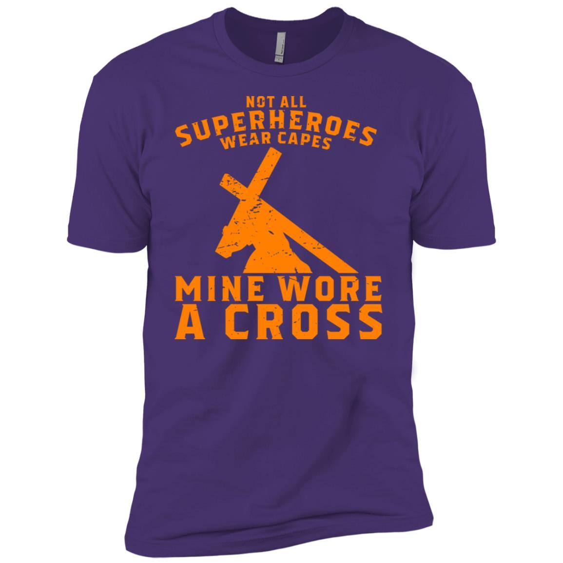 Not All Superheroes Wear Capes Mine Wore A Cross Jesus Gift-1 Men Short Sleeve T-Shirt