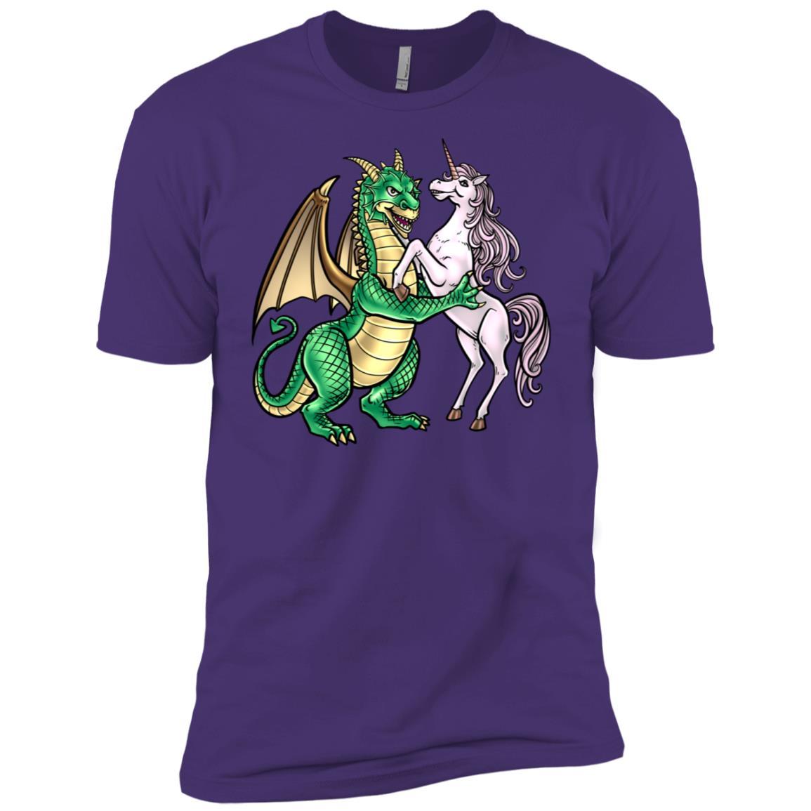 Dragon And Unicorn Dancing Couple Gift Men Short Sleeve T-Shirt