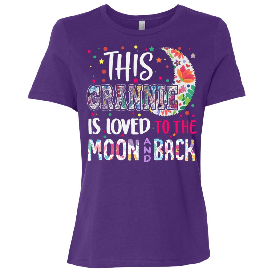 This Grannie is loved to the moon and back Women Short Sleeve T-Shirt