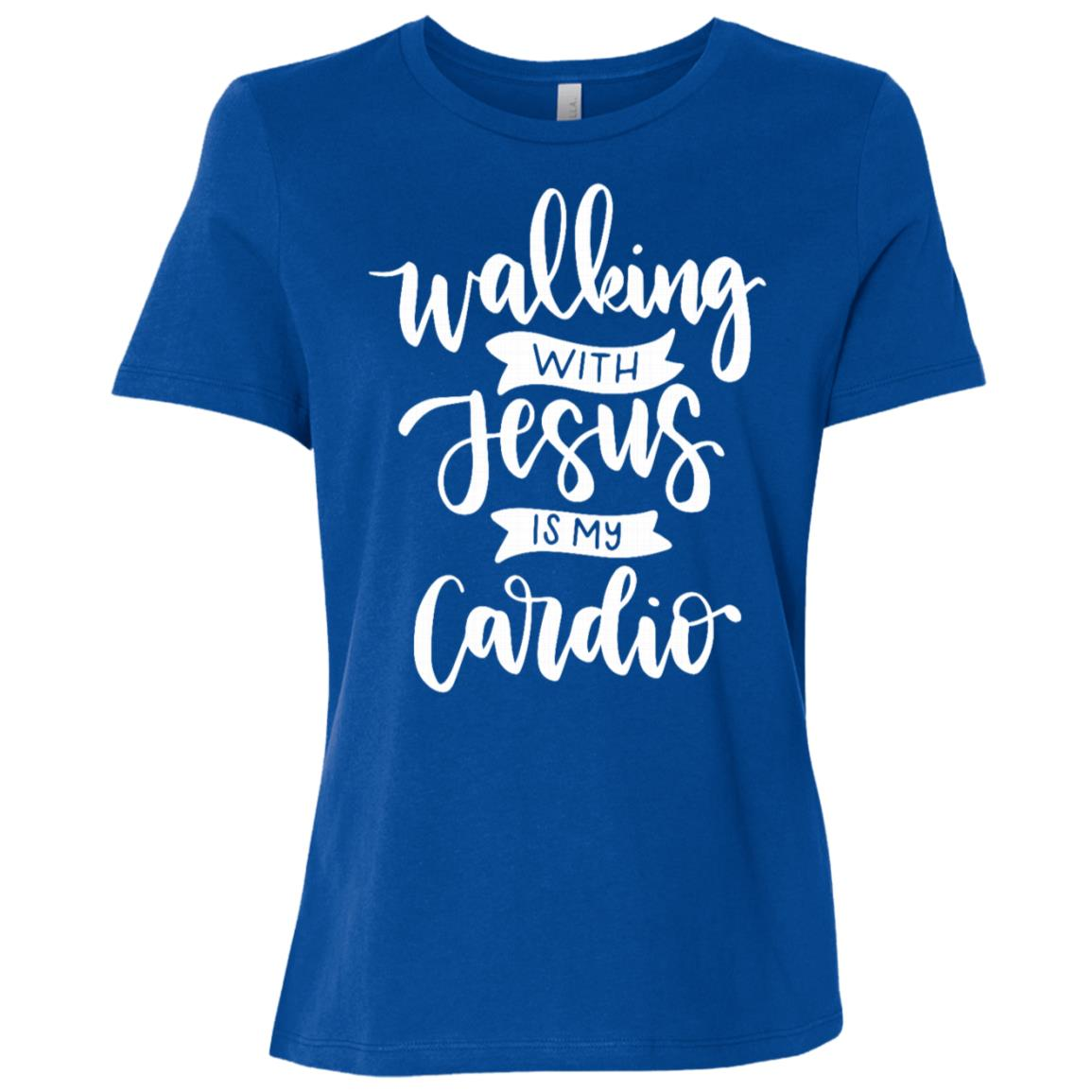 Walking with Jesus is My Cardio Women Short Sleeve T-Shirt