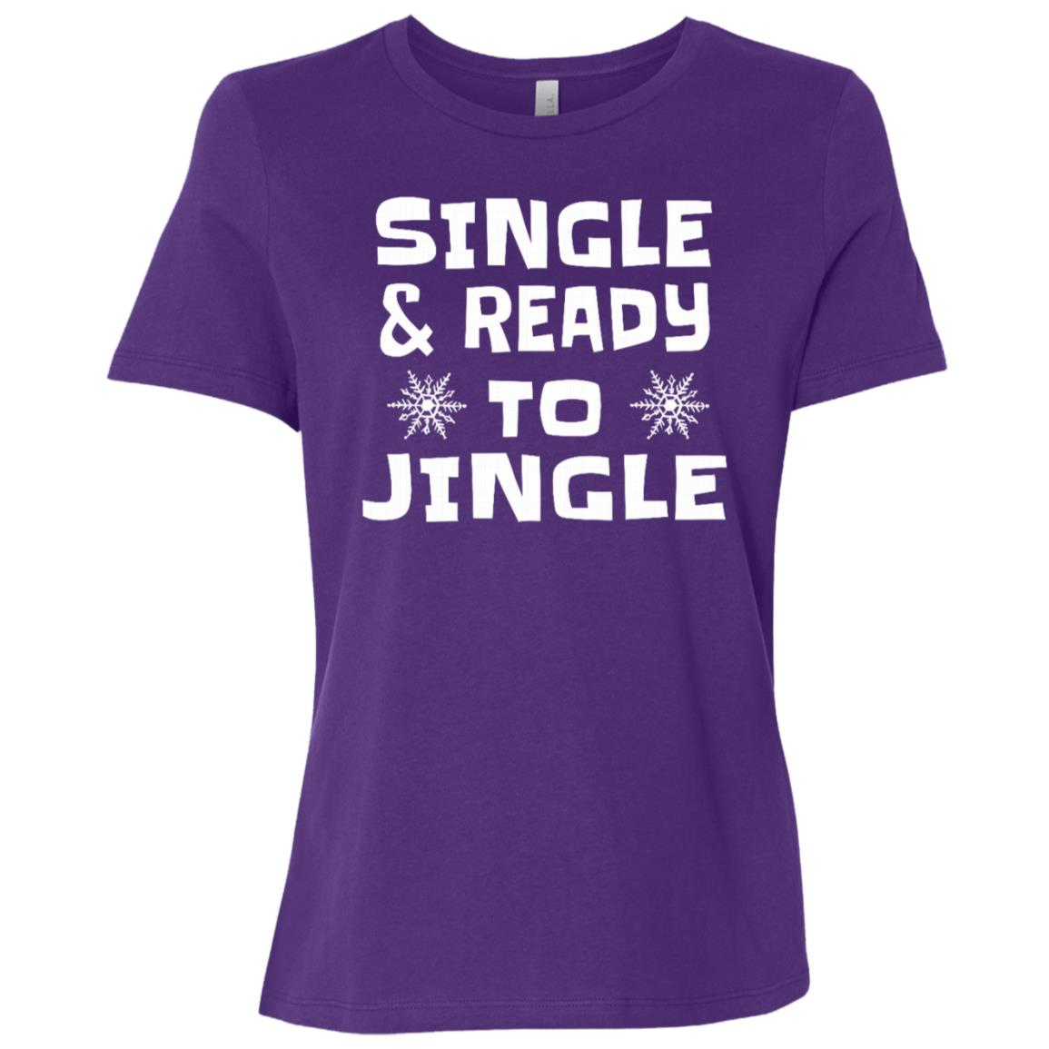 Single And Ready To Gingle Holiday Party Women Short Sleeve T-Shirt