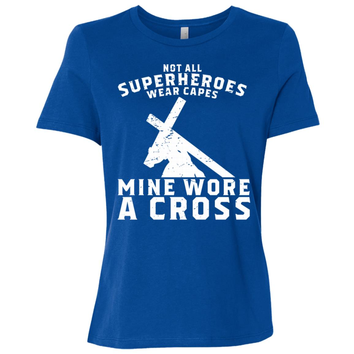 Not All Superheroes Wear Capes Mine Wore A Cross Jesus Gift-2 Women Short Sleeve T-Shirt