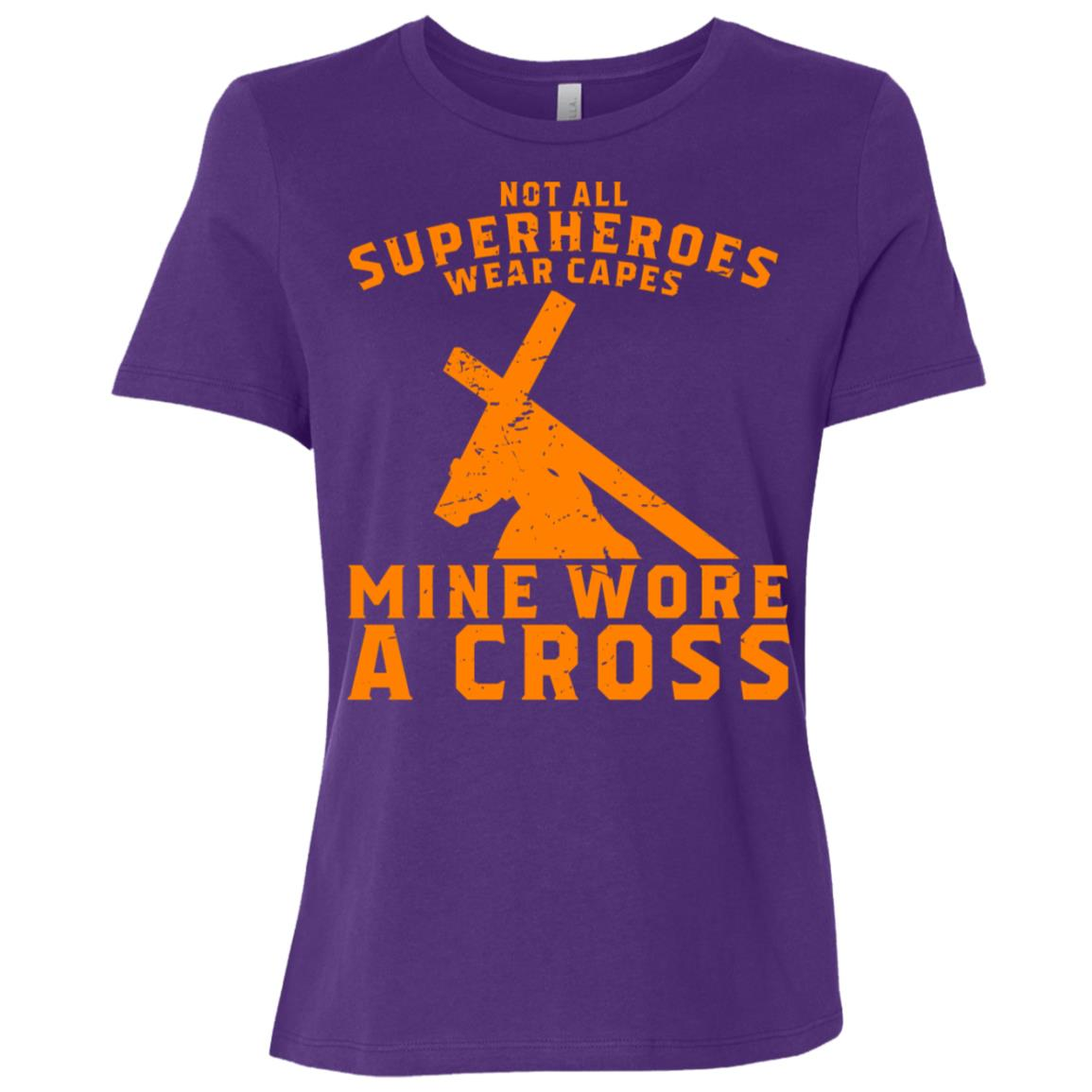 Not All Superheroes Wear Capes Mine Wore A Cross Jesus Gift-1 Women Short Sleeve T-Shirt