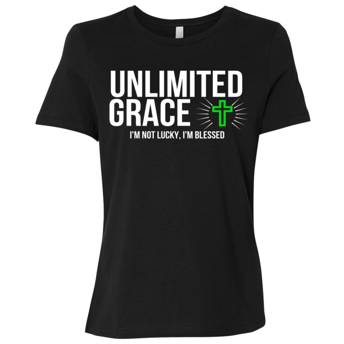 Unlimited Grace I'm Blessed Tee- Christian Gifts Women Short Sleeve T-Shirt