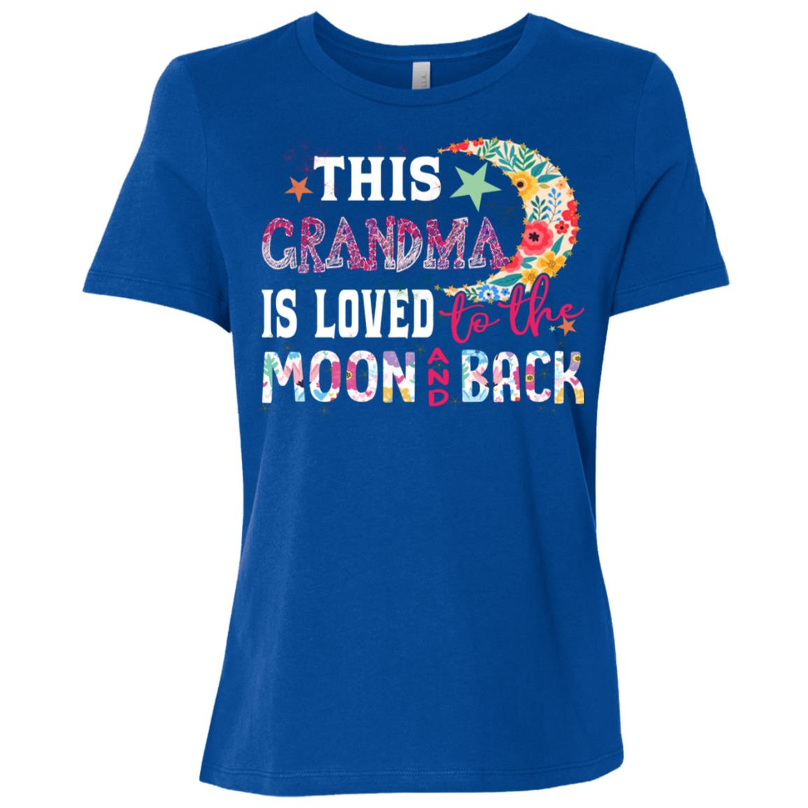 This Grandma Is Loved To The Moon And Back s Women Short Sleeve T-Shirt