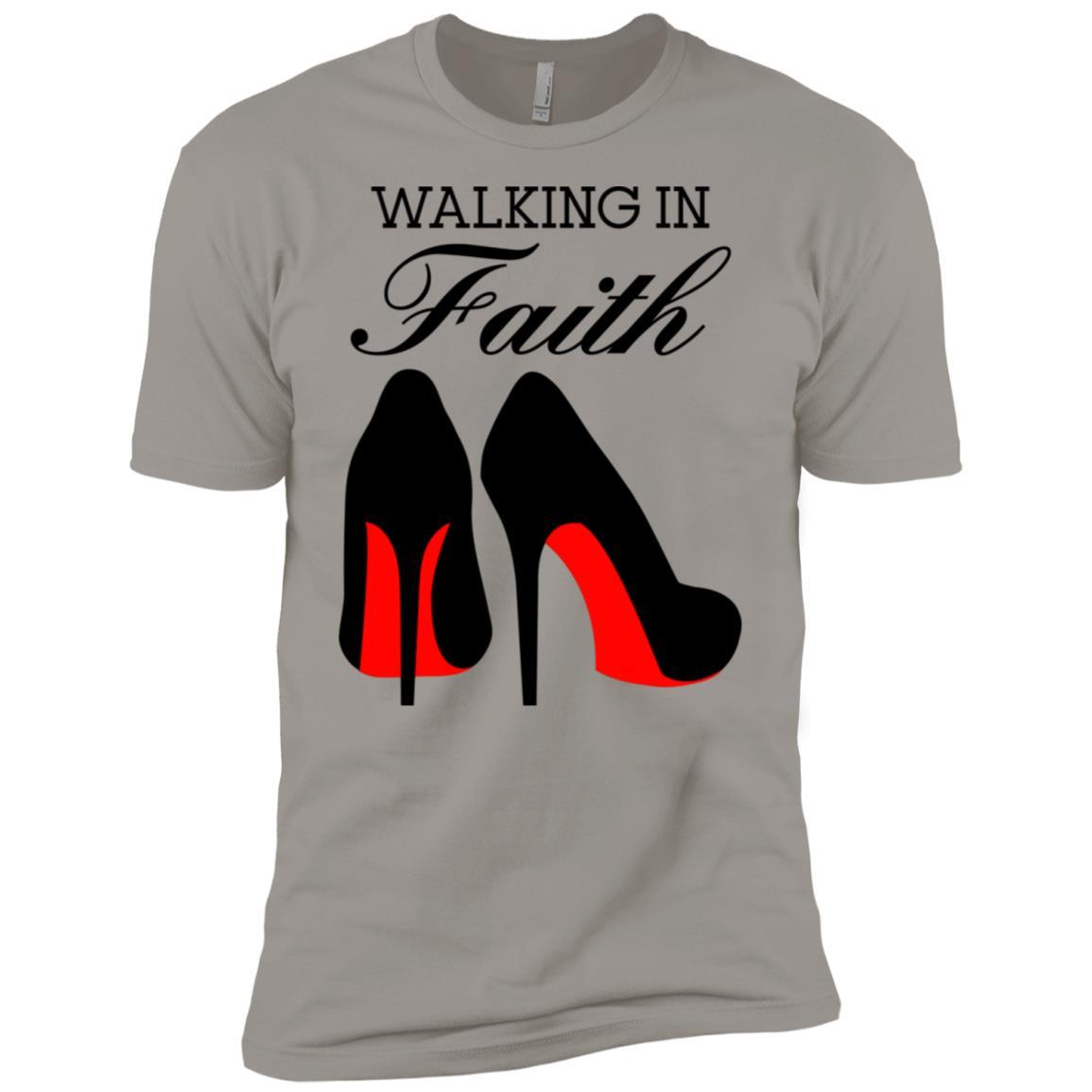 Walking in Faith Heels Men Short Sleeve T-Shirt