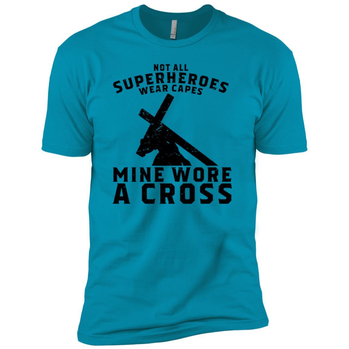 Not All Superheroes Wear Capes Mine Wore A Cross Jesus Gift Men Short Sleeve T-Shirt
