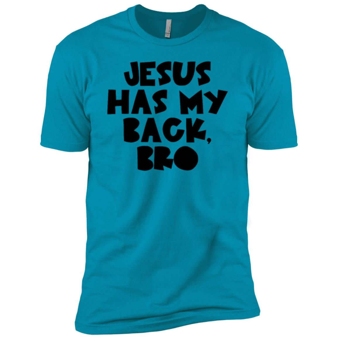 Christian Graphic Jesus Has My Back Bro Men Short Sleeve T-Shirt