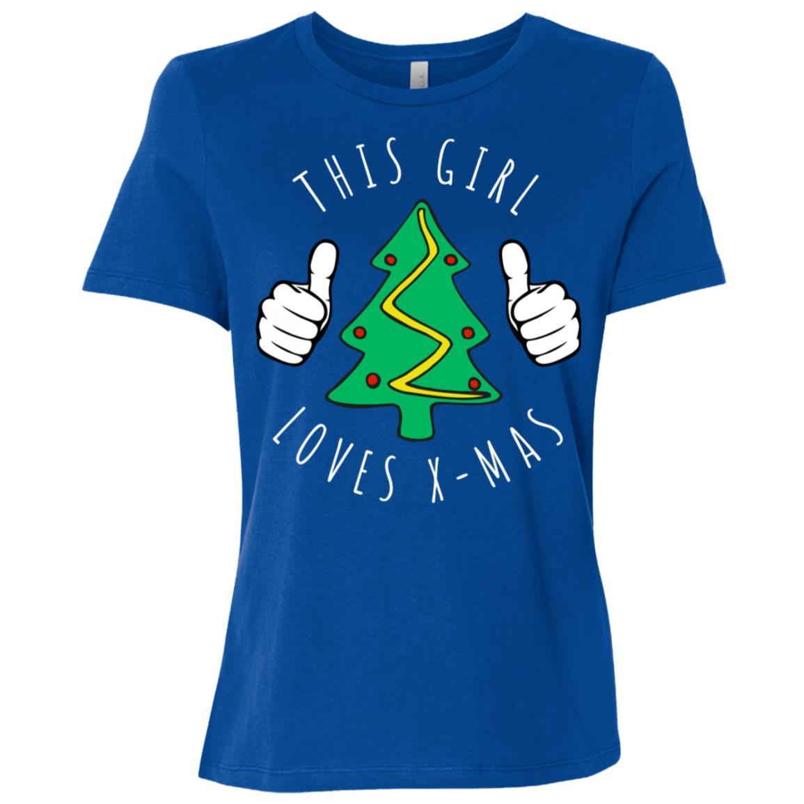This Girl Loves X-mas Women Short Sleeve T-Shirt