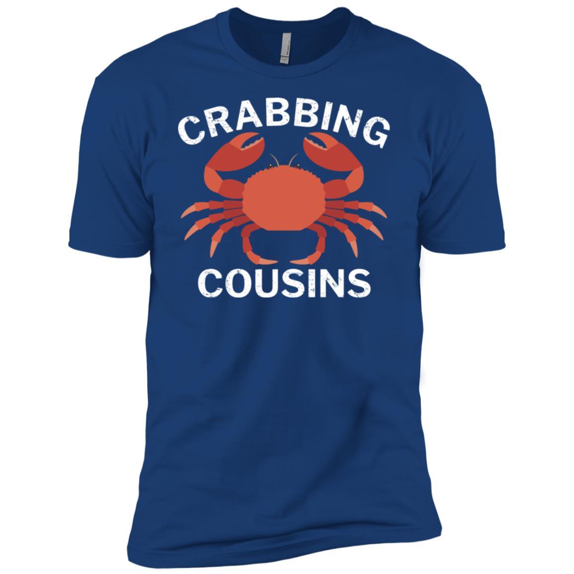 Crabbing Cousins Funny Fishing Men Short Sleeve T-Shirt