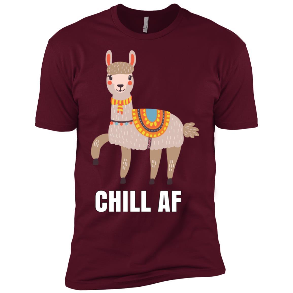 Chill Af Peruvian Llama Men Short Sleeve T-Shirt