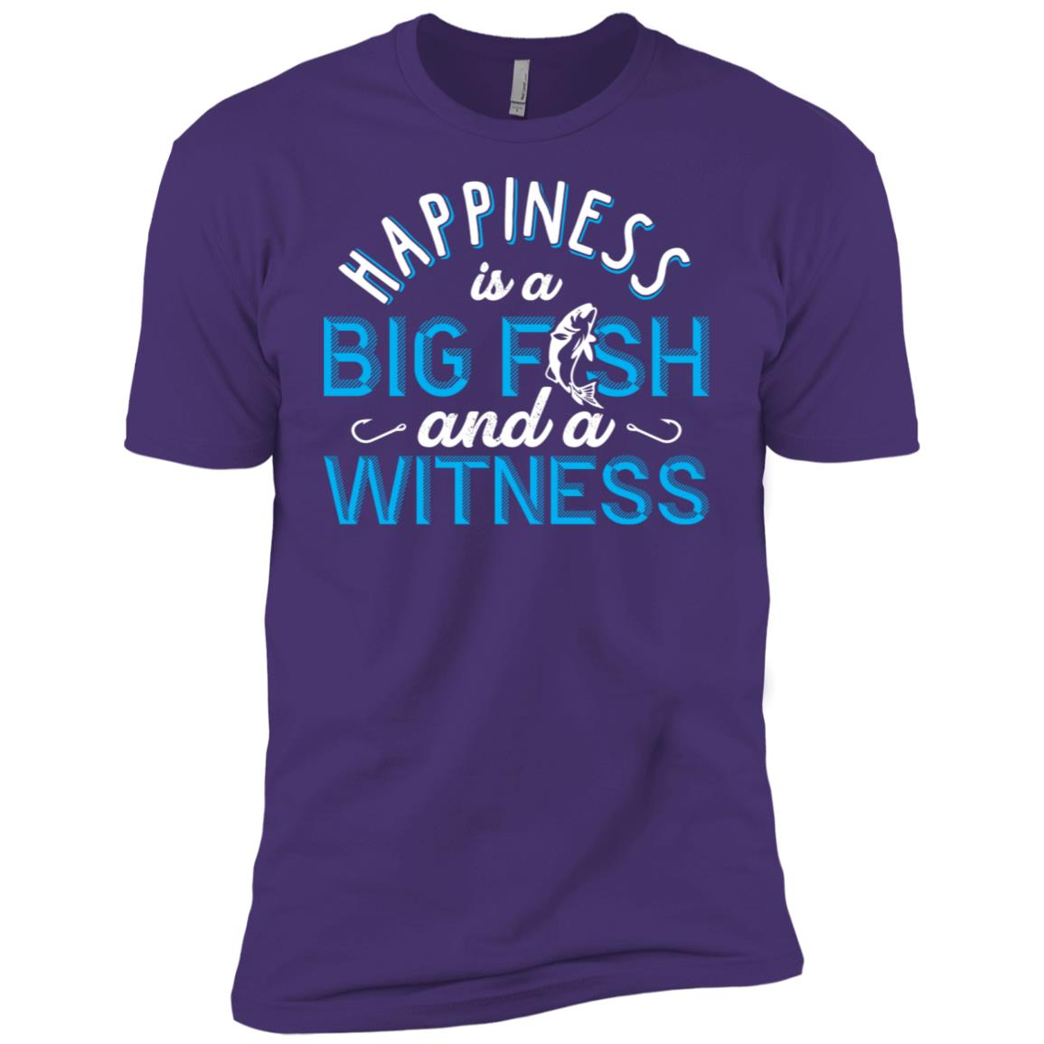 Big Fish And A Witness Funny Men Short Sleeve T-Shirt