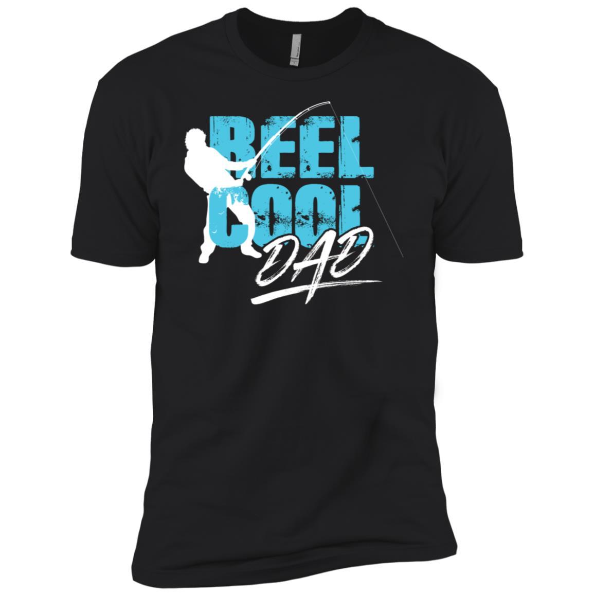 Beautiful Reel Cool Dad Fisherman Silhouette Tee Men Short Sleeve T-Shirt