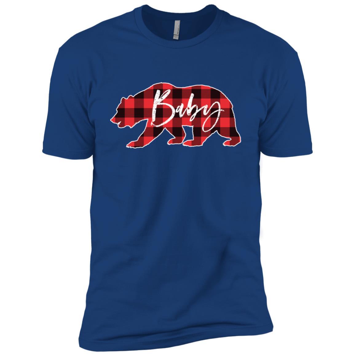 Baby Bear Red Black Buffalo Check Plaid Men Short Sleeve T-Shirt