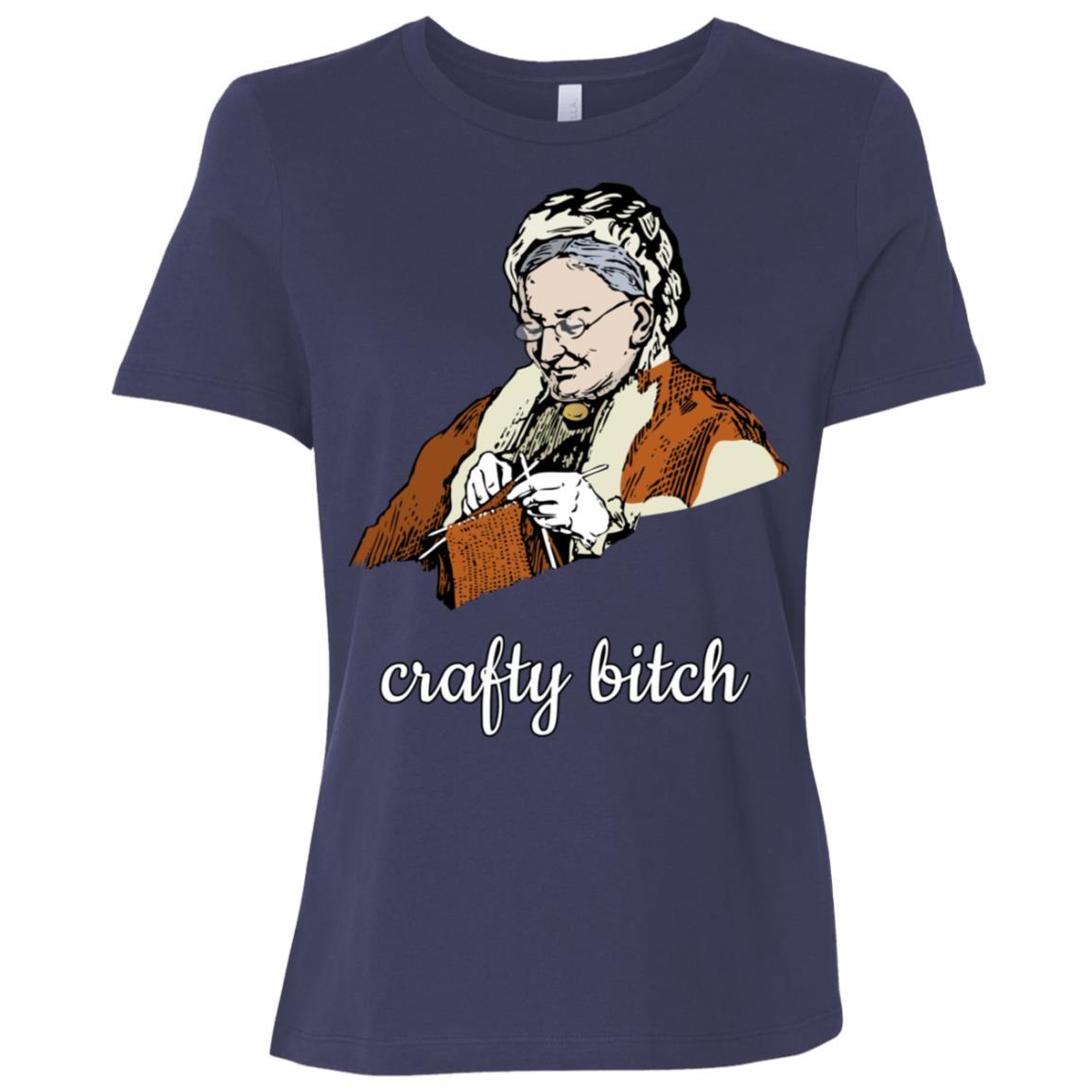 Crafty Bitch Knitting Grandmother Women Short Sleeve T-Shirt